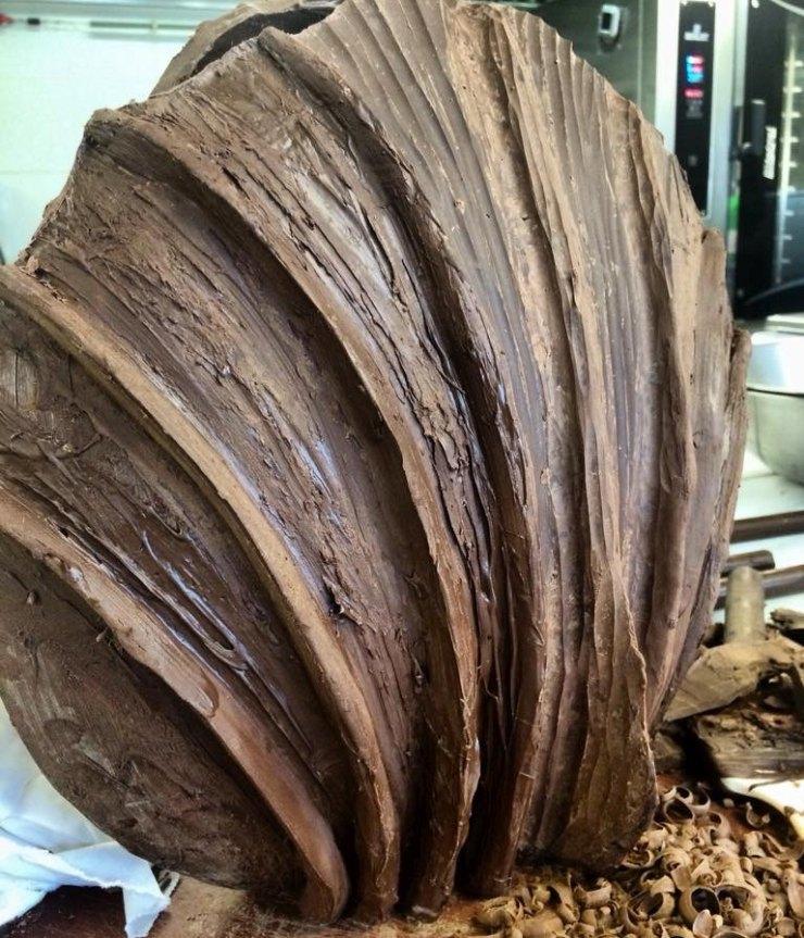 κοχύλι από σοκολάτα