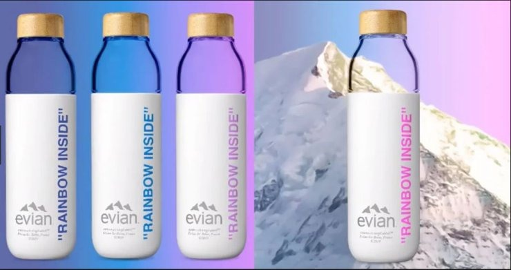 evian, Virgil Abloh, reusable