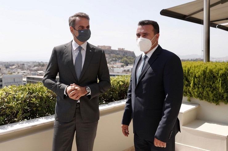 Συνάντηση Μητσοτάκη και Ζάεφ για την οικονομική συνεργασία Ελλάδας και Β.  Μακεδονίας   Sofokleousin