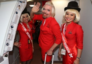 Richard Branson serves tea