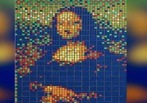 Mona Lisa, από κύβους Rubik