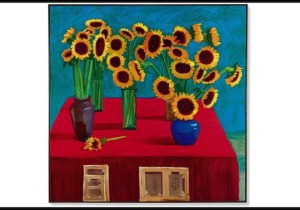 David Hockney, 30 Sunflowers